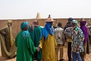Mercato del bestiame a Gorom Gorom in Burkina Faso