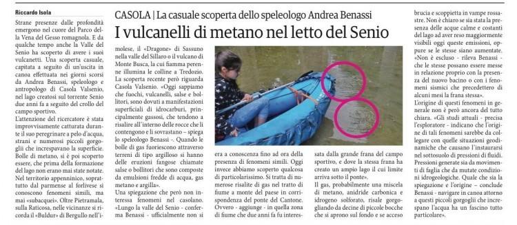 DA SETTESERE: Un'altra delle scoperte di Andrea Benassi andando in canoa nel lago che si è formato nella sua Casola Valsenio.