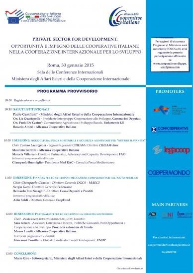 Evento indicato per le ONG e le altre associazioni che svolgono attività di cooperazione allo sviluppo