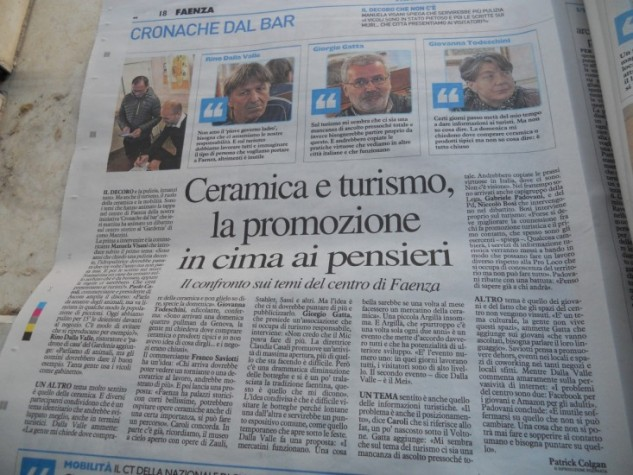 Lunedì 22 ottobre Il Resto del Carlino ha incontrato la città al Bar Gardenia a Faenza.