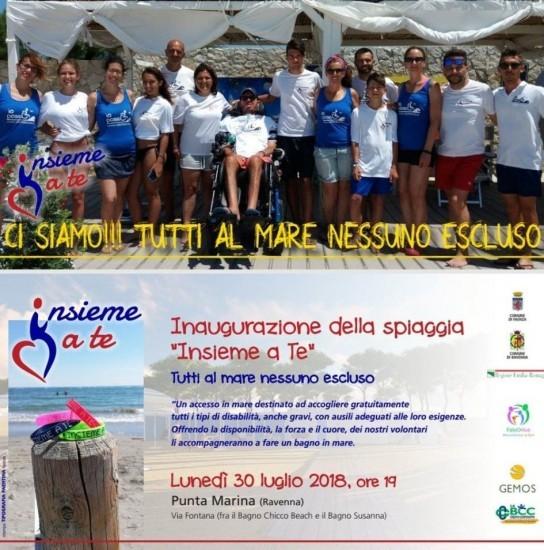"Inaugurazione della spiaggia ""Insieme a Te"" a Punta Marina di Ravenna"