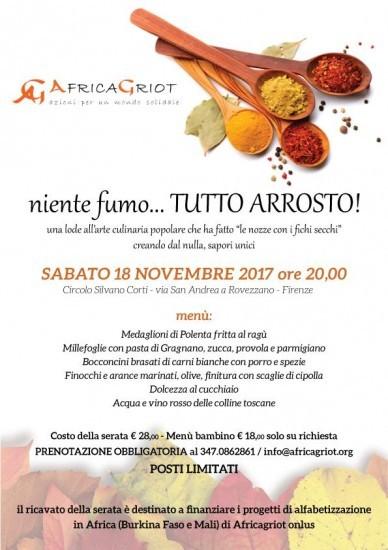 La Serata-Evento per l'Autunno 2018 di AfricaGriot