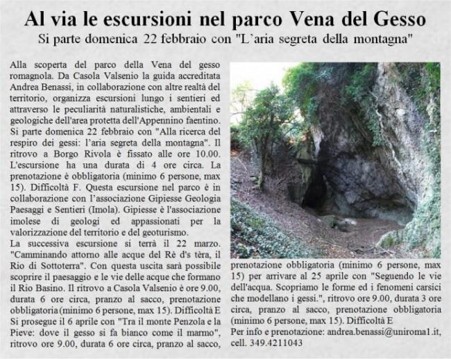 Alla scoperta del Parco della Vena del Gesso Romagnola con Andrea Benassi